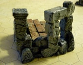 Set 5 - Plaster molded structure to be used with tabletop miniatures games.