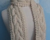 Big Lou Handknit Plait Cable Twist Scarf in a Color called Fisherman