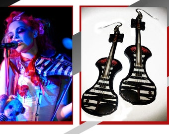 Earrings violin Emilie Autumn inspired instrument