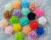 40pcs Sweet Rose Cabochon- Assorted Colours- Australia