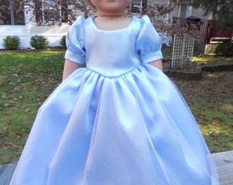 Light blue satin Cinderella ball gown