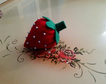 Felt Strawberry Pincushion