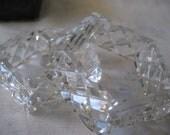 Vintage faux crystal napkin rings
