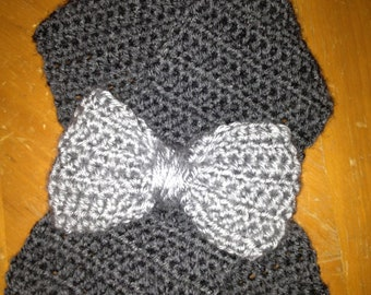 Gray Bow Scarf