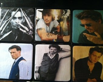 Johnny Depp Ceramic Coasters