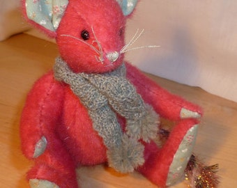"OOAK Meece Amis Artist Mouse by Tabbyclouds ""Mungo"" (Collector Bear)"