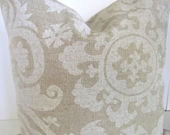 PILLOWS TAN Decorative Throw Pillow Covers Tan Ikat Throw pillows Modern Euro Shams 22x22 24x24 26x26 Cushions Home and Living