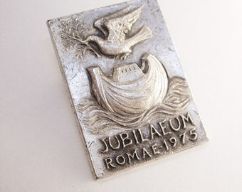 Vintage Jubilaeum Columbo Pin 1975 Dove Arc Water