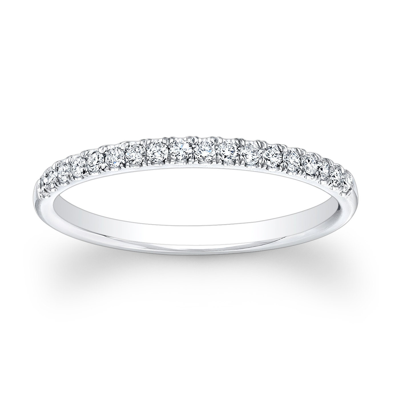 Ladies Platinum And Diamond Wedding Band 020 Ctw By EVSdesign