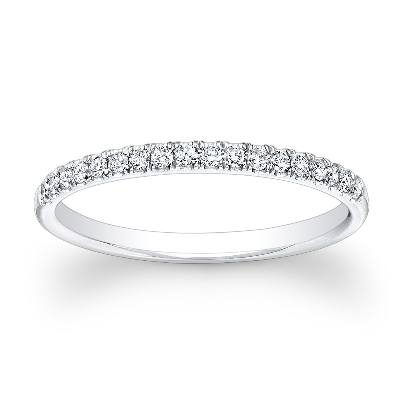 Ladies Platinum And Diamond Wedding Band 020 Ctw G VS2