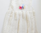 Alpaca Wool Baby Dress  - 3 to 6 months/Ready to Ship