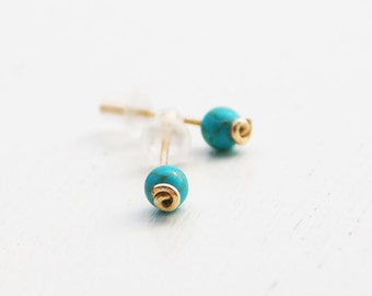 Turquoise stud earrings, turquoise post earrings, turquoise earrings, turquoise earrings, stone stud earrings, silver stud earrings