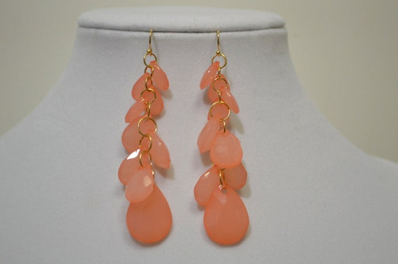 CLEARANCE- SHIPS NOWS- Faceted Multi-Stone Drop Earrings- Match to our Statement Necklace