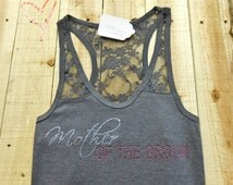 Mother-of-the-Groom Tank Top. Half Lace Tank Top. Mother-of-the-bride tank top. Bridal Party Tank Tops. Lace Bridal Tanks.