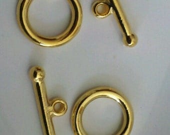 Gold Plated Toggle Clasp 2sets