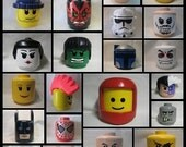 Custom made to order LEGO inspired Halloween Birthday Party costume head