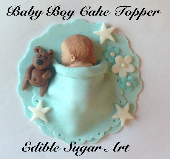 baby boy cake toppers items similar to fondant baby boy cake topper baby shower 1416