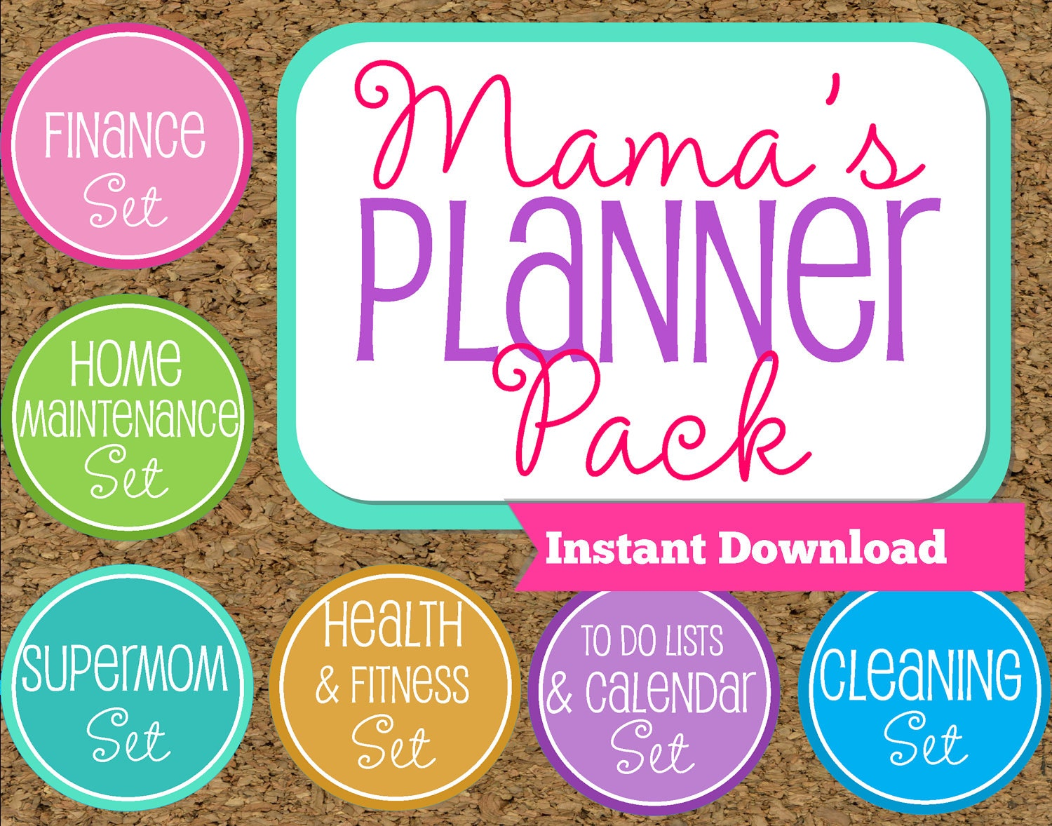 INSTANT DOWNLOAD-Mom Planner Printables by HappyOrganizedLife