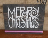 Painted Decorative Merry Christmas Sign
