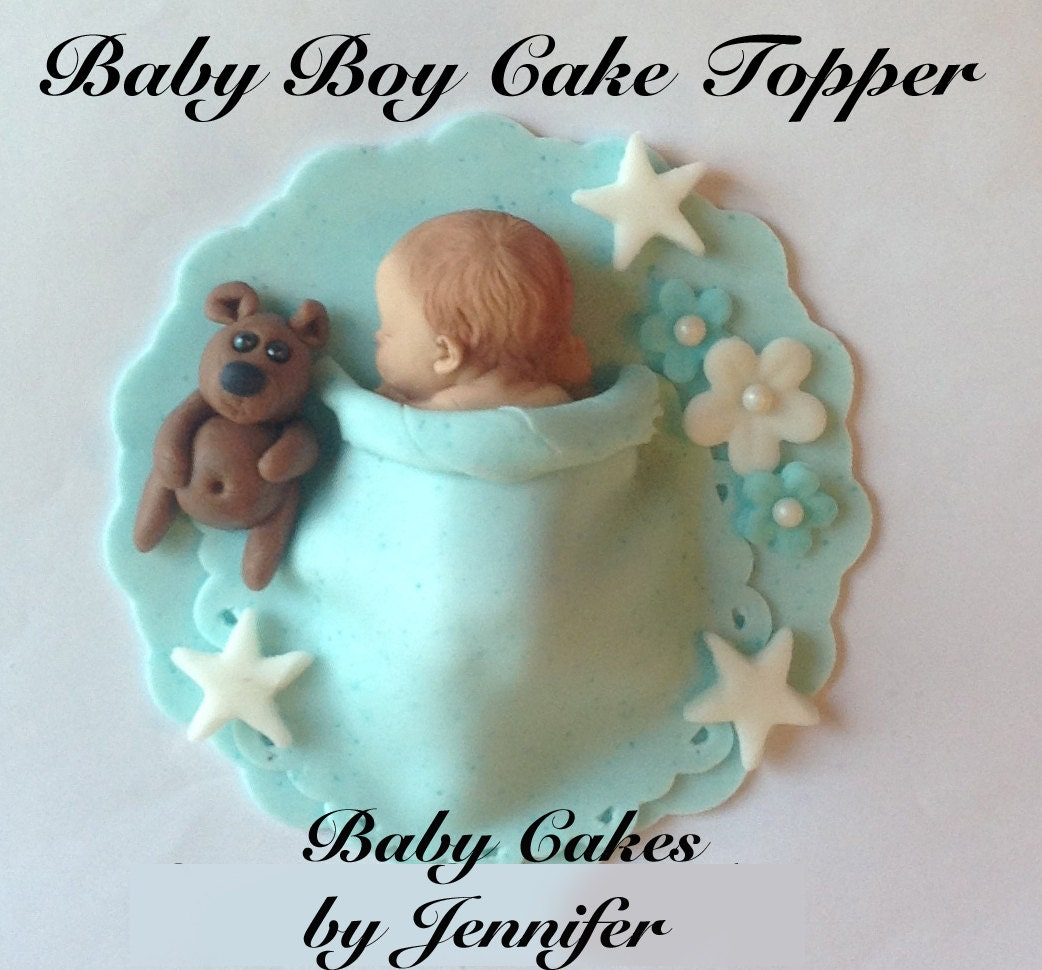 Cake Toppers Baby Boy : Baby Shower Cakes: Baby Shower Cake Toppers For A Boy