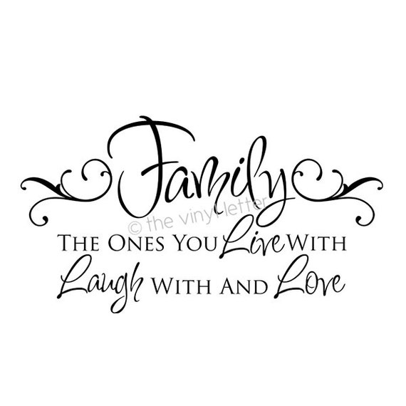 family live laugh love vinyl wall decor decal sticker. Black Bedroom Furniture Sets. Home Design Ideas