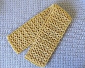 Hand  Crocheted Yellow Adult Scarf - Ready To Ship
