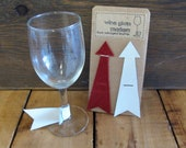 Leather Arrow Wine Charms