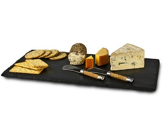 "Slate Cheese Board - 16"" x 8""  with Soapstone Chalk"