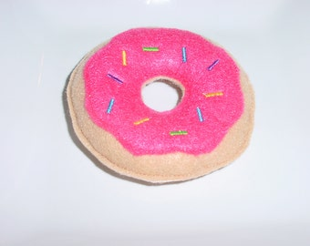 Felt Food - Donut with Hot Pink Icing & Spinkles Felt Play Food