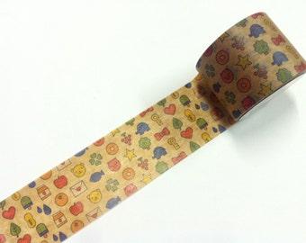 mt ex kumamoto  Masking Tape / Limited Edition  kumamoto   / 1 roll / wax paper tape  Packing paper