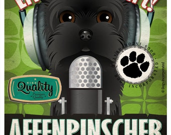 Affenpinscher Studio Original Art Print - Custom Dog Breed Print - 11x14 - Personalize with Your Dog's Name