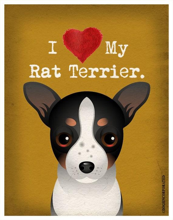 I Love My Rat Terrier I Heart My Rat Terrier I Love My Dog