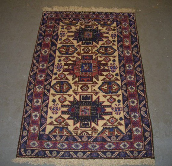 Reserved for J. Fizzle - 1970s Hand-Knotted, Ardebil Persian Rug