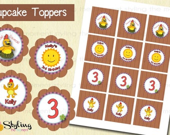 Chica cupcake toppers and FREE Wrapppers