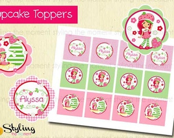Strawberry Shortcake Cupcake Toppers and FREE Wrappers