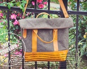 Finn Mens/Womens Handbag.  Recycled Army Tent.  Get 30% off