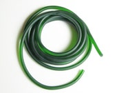 Rubber cord 5mm dark olive green, solid, 6 feet