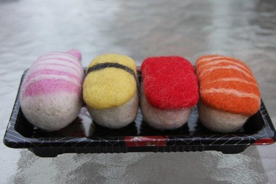 Felt Catnip 4 pieces Sushi Bento