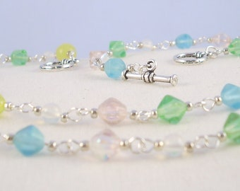 Pastel Glass Bead Necklace
