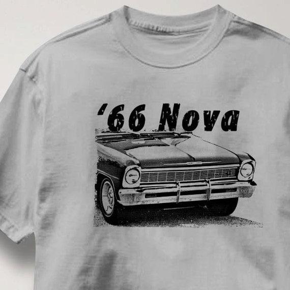 Chevy Nova 1966 Classic Chevrolet T Shirt Auto Tee Shirt Mens