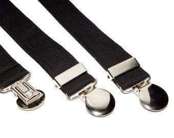 Suspenders - Black Adjustable Suspenders