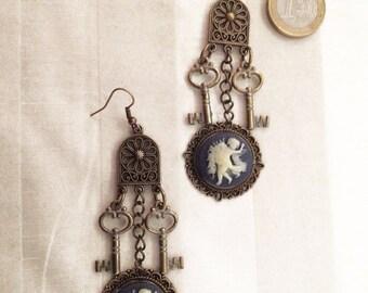 Elegant chandeleer earrings Allegra - Steampunk Victorian