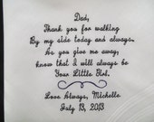 Free Gift Box. Personalized wedding handkerchiefs. Embroidered Keepsake Gift. You can choose any design in my shop.