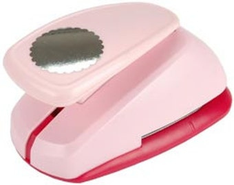 2.5 in or 6.35 cm SCALLOP CIRCLE Mega Clever Lever Paper Punch by Marvy Uchida