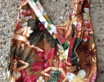 SALE! Reversable Cotton Boho Bag: Maui Wowee