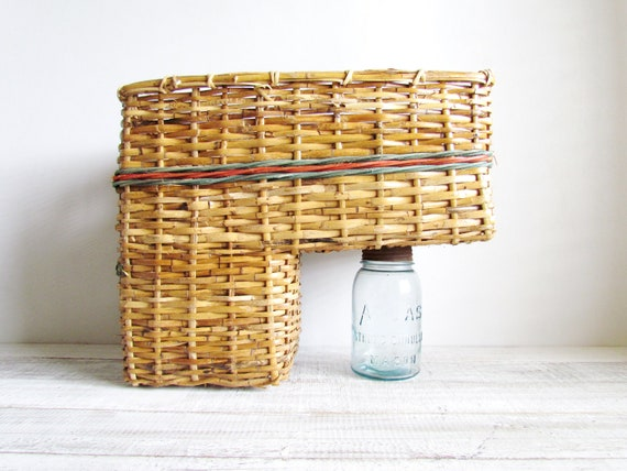 Vintage Hand Woven Stair Step Basket