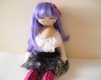 Handmade Goth Doll, Visual Kei Fashion Doll, Doll For Girls, Teens, Women