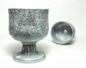 Distressed Lavender Ornate Urn Planter (2 Pieces)