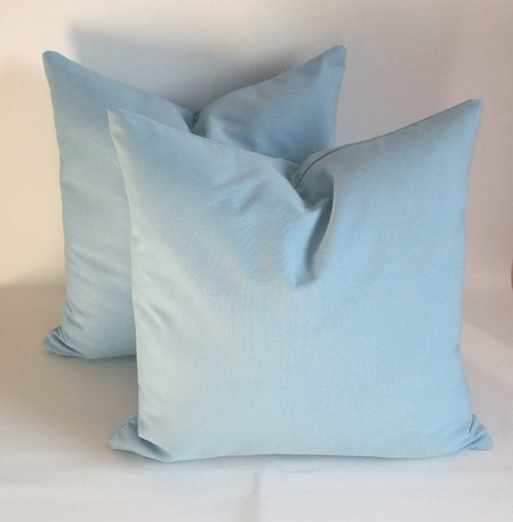 Soft Decorative Throw Pillows : SET OF 2 Ice Blue Decorative pillow Throw pillow by mertakkul