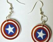 Captain America Earrings